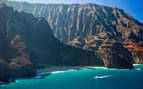 Picture of Boat and cliffs Hawaii