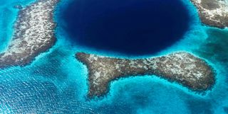 Aerial view of Belize's reef