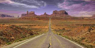 Road through the desert, USA