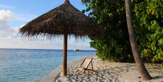 Umbrella on Beach, Southern Atolls