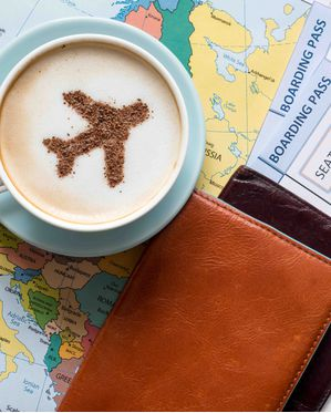 Coffee and map Detail