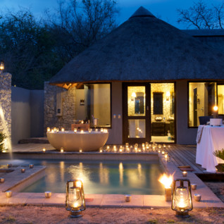Private dinner at Londolozi, luxury hotel in South Africa