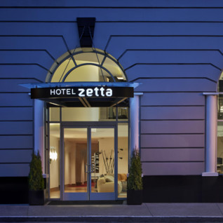 Entrance at Hotel Zetta, luxury hotel in Big Sur