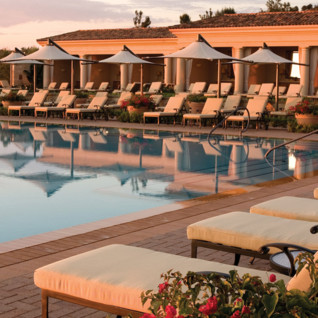 Poolside at Resort at Pelican Hill, luxury hotel in Los Angeles