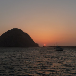 Sunset at Anderson Inn, luxury hotel in Morro Bay, Big Sur
