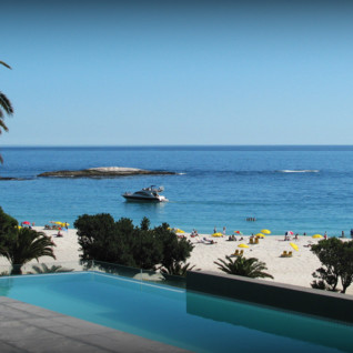 The beach at POD hotel, luxury hotel in Cape Town, South Africa