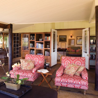 Veranda at Camp Figtree, luxury hotel in South Africa