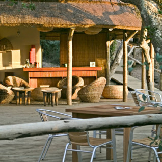 The bar at Thonga Beach Lodge, luxury hotel in South Africa