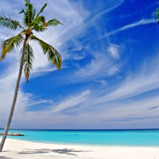 Picture of beach and turquoise water Northern Atolls