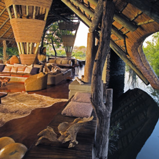 The main lodge at Singita Boulders, luxury safari camp in South Africa