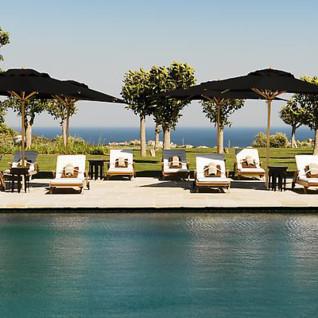 The swimming pool at Finca Cortesin, luxury hotel in Spain
