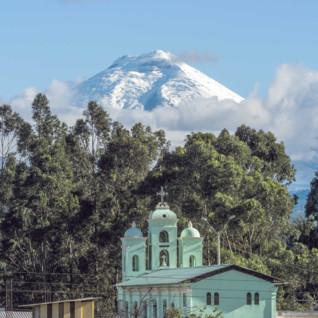 San Jalomo Church below Cotopaxi Volcano