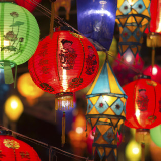 Bright Lanterns in Singapore