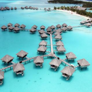 Aerial view of Le Meridien Bora Bora