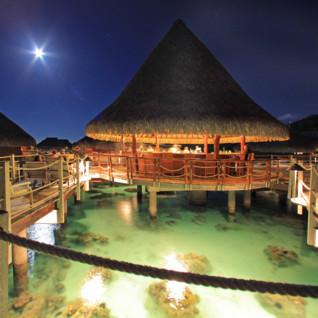 Over water bar at night