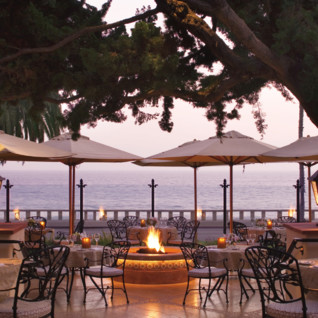 Terrace at Four Seasons Santa Barbara, luxury hotel in Santa Barbara, Big Sur