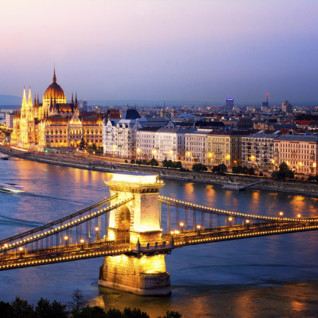 Budapest night lights