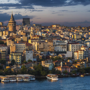 Galata Tower at Dusk