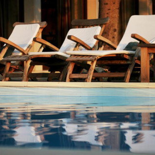 The pool at San Rocco, luxury hotel in Croatia