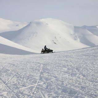 Snowmobile tour, Svalbard