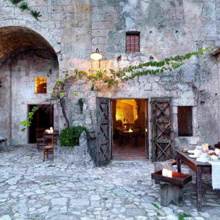 Outdoor Terrace, Sextantio Grotte Della Civitta Matera