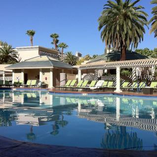 The pool at Four Seasons Las Vegas, luxury hotel in Las Vegas