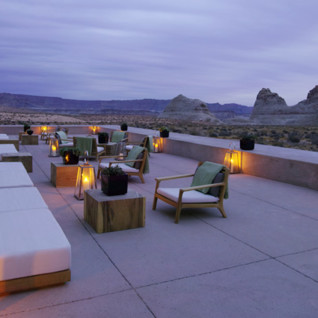 Lounge Terrace at Amangiri, luxury hotel in the Great American Wilderness