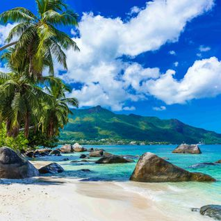 Beach Mahe Island in the Seychelles
