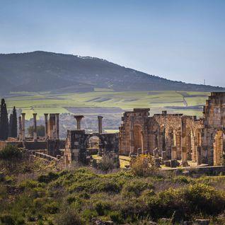 Roman ruins in Volubilis