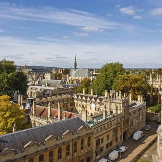 A rooftop view of Oxford