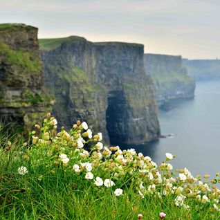 A clifftop view of Moher