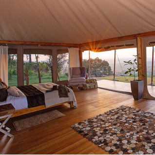 tented camp room view