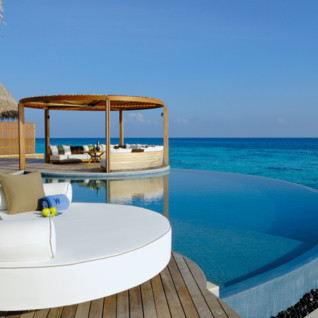 Pool at W Retreat & Spa Maldives, luxury hotel in the Maldives