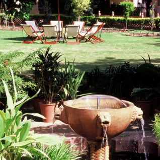 Garden at Rohet Garh, luxury hotel in India