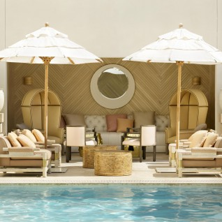 Poolside at The Tides, luxury hotel in Miami