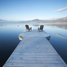 Chairs looking out over a lake