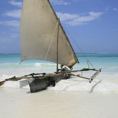 A boat on the shore, Tanzania