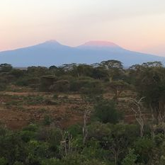 Mountains in Kenya skyline