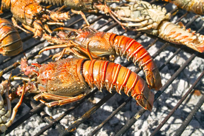 Lobster on a barbecue