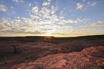 sunrise in Uluru in Australia