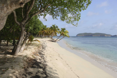 Beach in Mustique