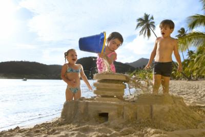 kids playing carlisle bay