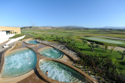 spa view over golf