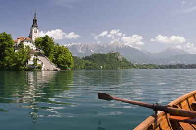 Rowing in Lake Bled