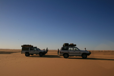 Jeeps in the Desert