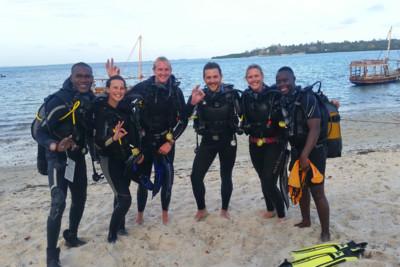 Diving on Mafia Island