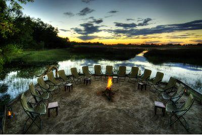 Campfire in Kanana Camp