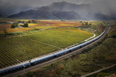 Rovos Rail through the South African countryside
