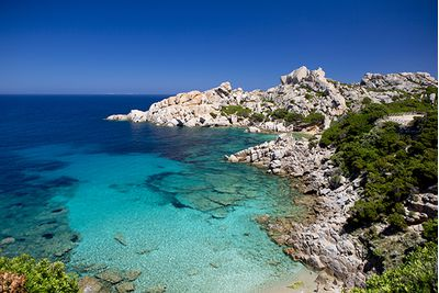 The blue ocean in Sardinia