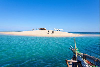 Mozambique boat and island